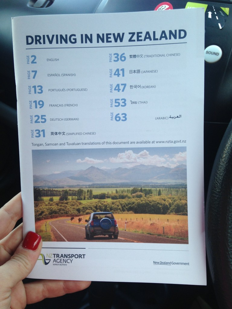 flyer driving in new zealand