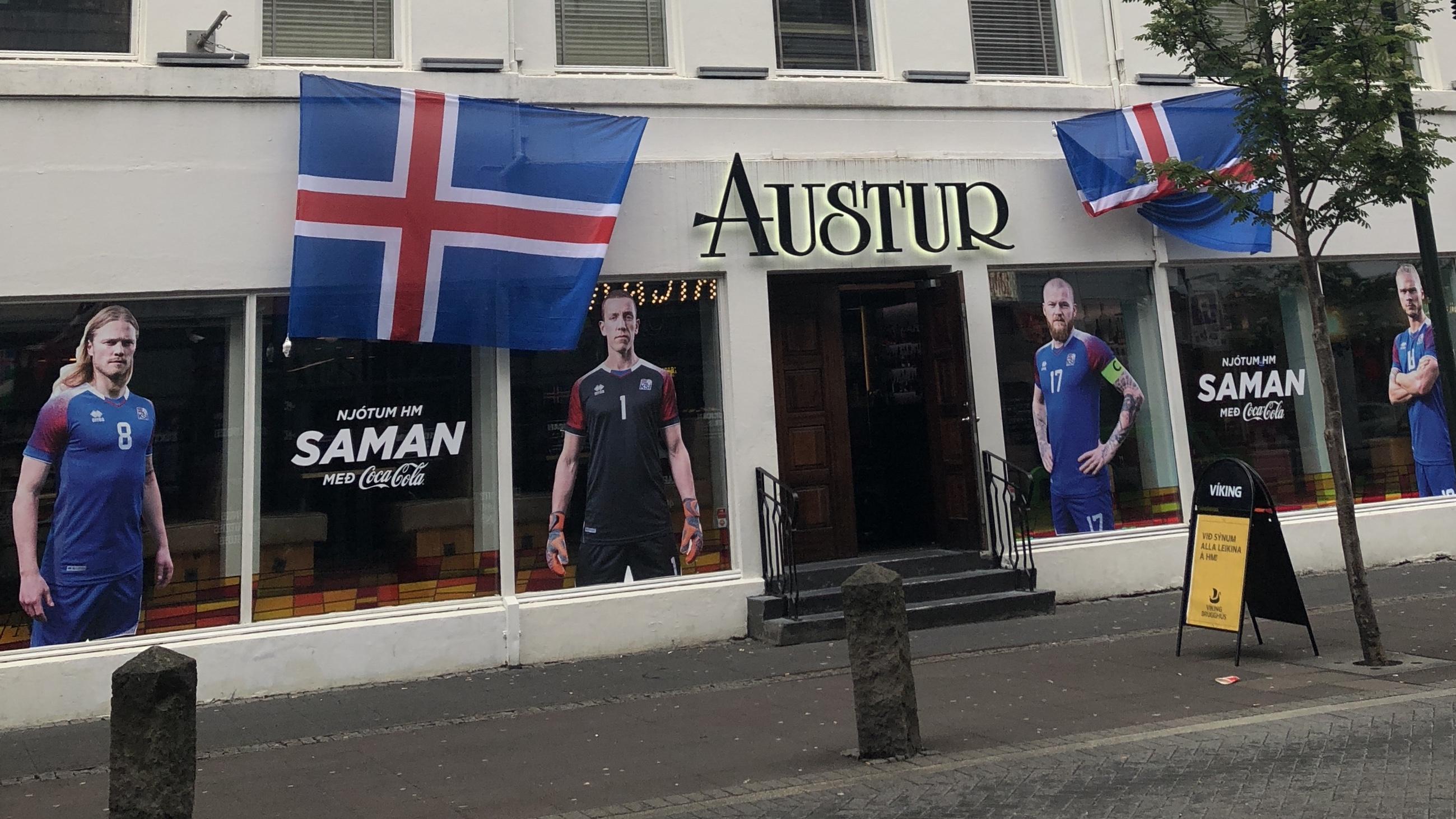 Islanda 2018 - giocatori nazionale foto strade Reykjavik