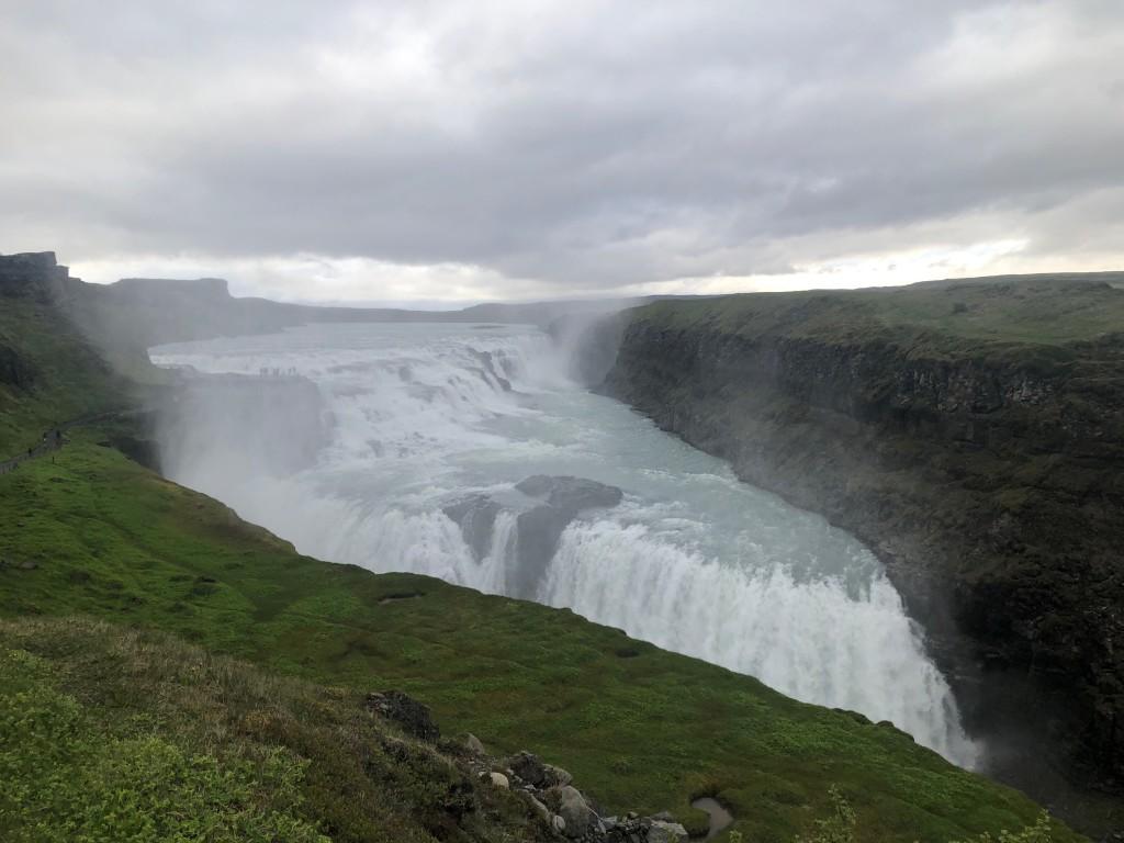 Islanda - Golden Circle Cerchio d'Oro - Cascata Gullfoss